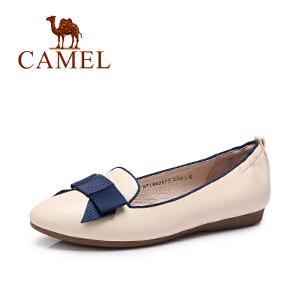 Camel/骆驼女鞋 春季新款 韩版复古舒适平底鞋浅口套脚单鞋