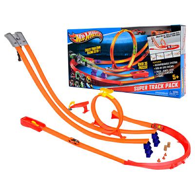 美泰儿童玩具风火轮双轨道玩具立体回旋赛道超级轨道组合装Y0276 Y0276(内含2辆小跑车)