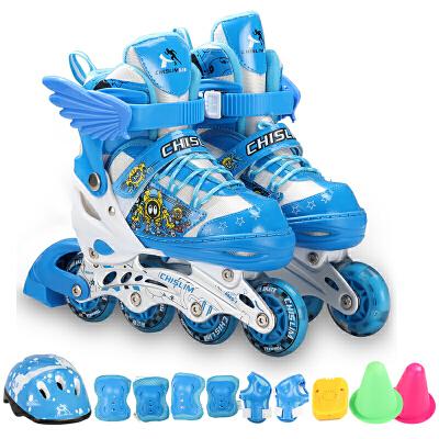 【爆款直降】启迈斯溜冰鞋儿童轮滑鞋套装可调码男女旱冰鞋
