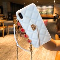 苹果xs Max手机壳斜挎背包式iphone7plus手提包8防摔新款xr背带6s 苹果6/6S:白色 斜挎手提包 送
