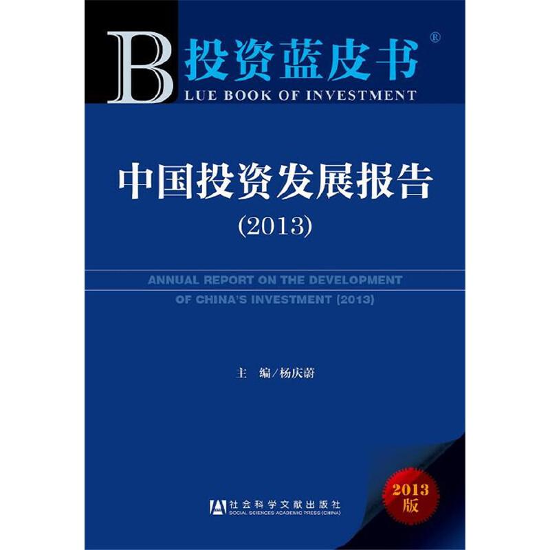 投资蓝皮书:中国投资发展报告(2013)