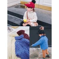 儿童高领毛衣男童保暖针织衫小童宝宝毛线衣