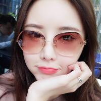 切片太阳镜女潮圆脸明星款墨镜韩版复古原宿风眼镜
