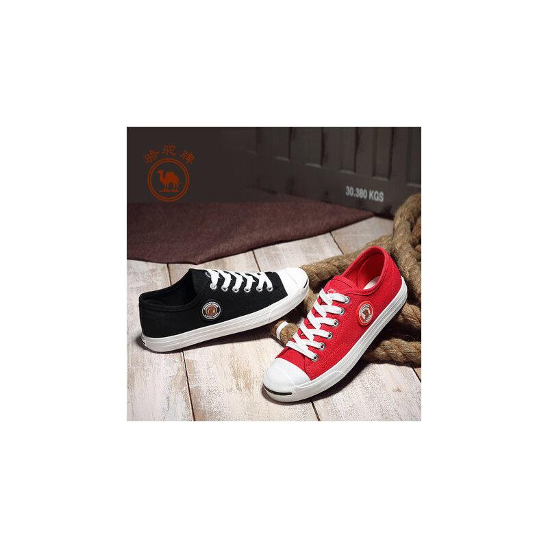 骆驼牌 女鞋 新款低帮帆布鞋女平跟学生韩版平底布鞋子