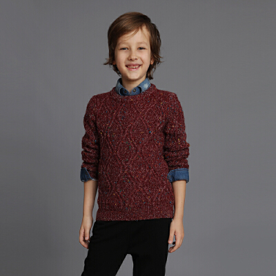 男童低领套头毛衣 儿童韩版针织衫毛线衣5秋冬装7岁小虎宝儿童装6