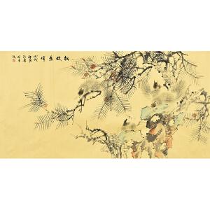 河南美术家协会会员  许鲁松林为伴gh03375