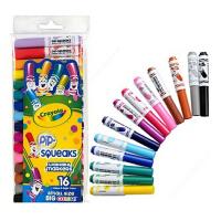 Crayola绘儿乐 16色可水洗短杆粗头马克笔 水彩笔 58-8703