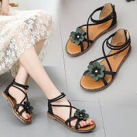 百搭凉鞋网红女鞋平底鞋仙女鞋沙滩鞋2019夏季新款学生罗马鞋春季