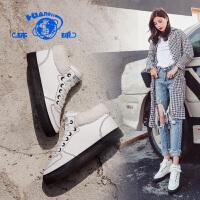 环球棉鞋女冬季保暖加绒韩版2019新款短靴学生休闲女鞋雪地靴