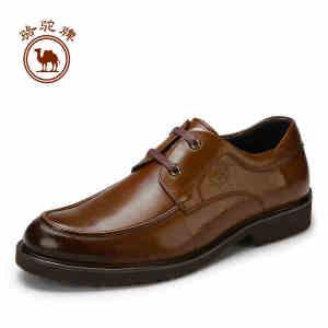 骆驼牌皮鞋男真皮男鞋商务休闲鞋男士英伦青年系带牛皮正装德比鞋