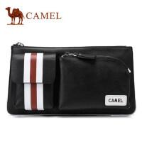 Camel骆驼2017新款男士 腰包休闲单肩斜挎包男青年牛皮胸包潮