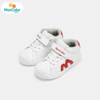 【1件2折】马卡乐童鞋男宝宝冬季新款男童贝壳头魔术贴加绒保暖运动鞋