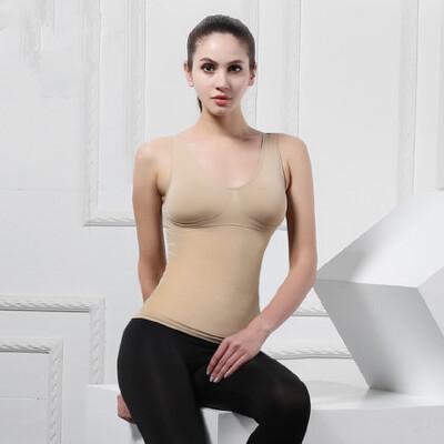 女塑身衣 收腹背心 带胸垫美体内衣托胸紧身内衣舒适塑型 品质保证 售后无忧 支持货到付款