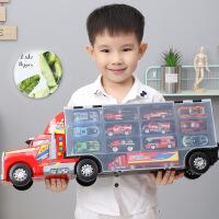儿童玩具工程车消防车挖土机吊车勾机套装男孩子合金小汽车模型 生日礼物六一圣诞节新年礼品