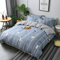 简约北欧风四件套纯棉网红款宿舍被套床单人床上用品三件套4