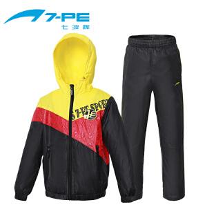 七波辉男童装 秋季休闲运动梭织套装儿童套装青少年服装两件套