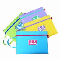 作业袋 双层袋试卷收纳袋手提拉链袋防水 帆布学具袋 语数英综合 4个