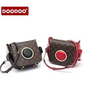 【支持礼品卡】DOODOO 链条包包2018新款百搭斜挎小包迷你女包韩版潮复古相机包女 D6233