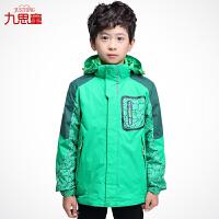 童装男童三合一冲锋衣外套拆卸套装男生冬装儿童户外登山服