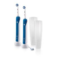 美国直邮 Oral-B欧乐B 成人旋转声波电动牙刷 pro2000家庭套装 2只装 海外购
