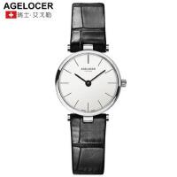 Agelocer艾戈勒瑞士进口手表女正品女表超薄防水时尚潮流手表皮带