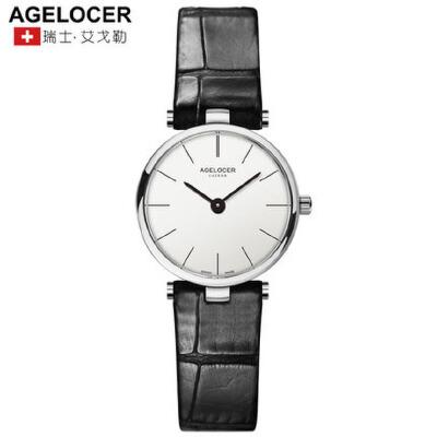 Agelocer艾戈勒瑞士进口手表女正品女表超薄防水时尚潮流手表皮带支持七天无理由退换 零风险购