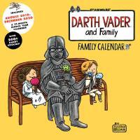 英文原版 星球大战 黑武士一家2019.8-2020年挂历 200+贴纸 日程计划日历 Darth Vader and