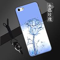 �O果五s手�C�� ��性潮流iphone5��炖K平果5全包�pg5男女5se�套 水晶玫瑰 送支架+�炖K