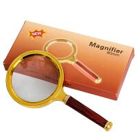 全铜边框红木手柄 80MM清晰阅读10倍手持放大镜