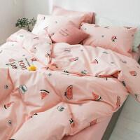 网红款ins床上用品四件套纯棉公主风床单被套被单4三件套夏季