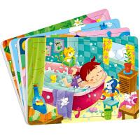 动手动脑玩拼图3-4岁全4册 拼图书3 6岁益智拼图书 小红花宝宝智力儿童拼图小红花童书畅销书 幼儿益智拼图 儿童畅销动