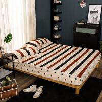纯棉加厚夹棉床笠纯棉单件全棉席梦思保护套床罩1.8m双人1.5米