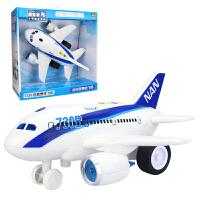 儿童玩具飞机男孩宝宝大号遥控音乐耐摔惯性玩具车仿真模型客机