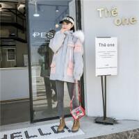 班图诗妮 2018新款棉袄冬季外套女加厚中长款工装棉服女学生韩版宽松bf棉衣