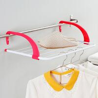 【满减】欧润哲 玫红色阳台儿童尿布晒衣架 多用途免安装衣架晒袜架子 可折叠伸缩晾晒架