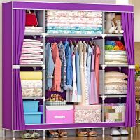 简易布衣柜 加厚钢管衣柜 加固钢架衣橱大号储物柜收纳柜抖音同款