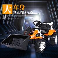 儿童挖掘机玩具车电动推土机可坐人可骑电动大号男孩遥控工程车