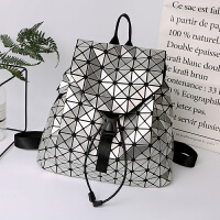 2018新款亮片女式双肩书包PVC大容量背包 潮流防水轻抽带旅行包包