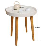 空大实木小圆桌子宜家日式简易简约现代茶几沙发边几圆几床头榻榻米桌