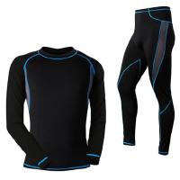 冬款骑行保暖内衣套装男 自行车骑行服套装户外骑行套装