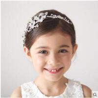 韩版大号水钻发卡水晶刘海梳儿童皇冠头饰公主发梳演出发饰品