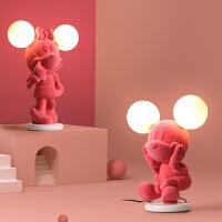 儿童房卡通装饰台灯简约卧室书桌床头可爱温馨粉色女孩公主房灯具kb6