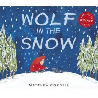 英文原版 我遇见了一只小灰狼 2018年凯迪克金奖绘本 平装 Wolf in the Snow 雪地里的狼 Matth