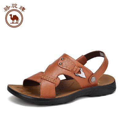 骆驼牌男凉鞋 夏季新品男士 休闲男鞋牛皮户外透气沙滩鞋子