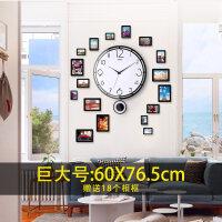 装饰时钟卧室石英钟表挂钟客厅个性创意现代简约欧式静音时尚挂表