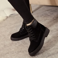 chic马丁靴女英伦风靴子女学生韩版冬季加绒雪地靴女款棉鞋高帮潮 35 标准码