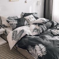 ins北欧风四件套全棉纯棉被套被单网红款床单宿舍床上三件套床笠4