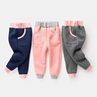 女童保暖裤子棉裤宝宝哈伦裤儿童休闲裤童裤
