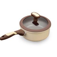 18cm奶锅婴儿辅食锅汤锅牛奶煮面锅陶瓷电磁炉小锅迷你