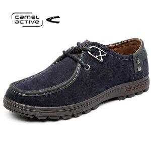 Camel Active/骆驼动感 男士磨砂皮头层牛皮休闲鞋低帮男鞋皮鞋